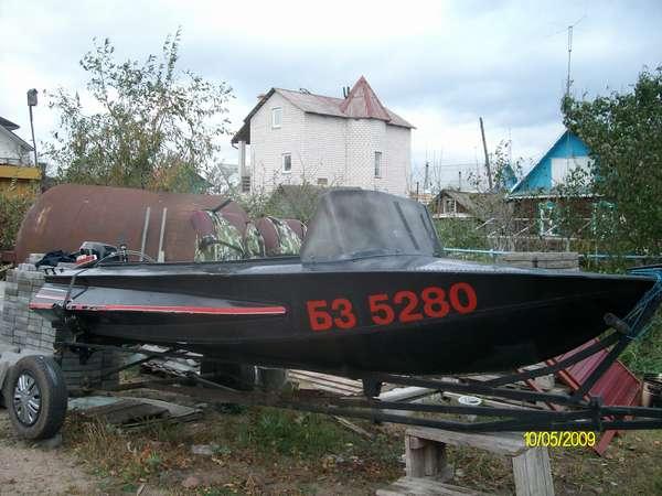 Фото лодки Обь
